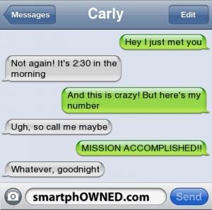 text call me